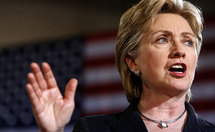 Clinton insists ties with Obama are strong