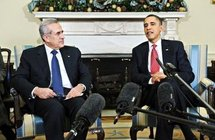 Lebanese President Michel Sleiman and US President Barack Obama (AFP/Jewel Samad)