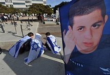 A poster showing Gilad Shalit