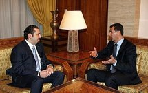 Saad Hariri and Bashar al-Assad