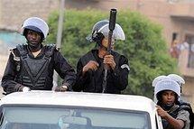 Mauritanian police in Nouakchott in 2008