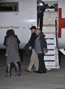 Peter Moore (centre, wearing cap) (AFP/POOL/Ben Birchall)