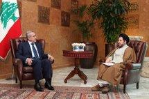 Lebanese President Michel Sleiman with Iranian Vice President Mohammad Reza Tajeddini