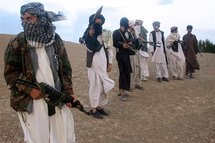 Fighters with Afghanistan's Taliban militia in Wardak province