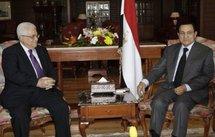 Palestinian president Mahmud Abbas with Egyptian President Hosni Mubarak.