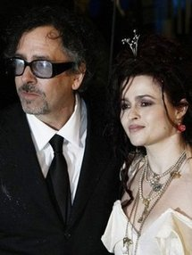 US film director Tim Burton and British actress Helena Bonham-Carter attend the world premier of 'Alice in Wonderland' at the Odeon Cinema in London's Leicester Square. (AFP/File/Carl Court)