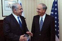 Israeli Prime Minister Benjamin Netanyahu and US envoy George Mitchell
