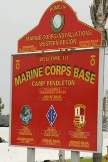 The entrance to Camp Pendleton Marine Corps Base in California. (AFP/File/Robyn Beck)