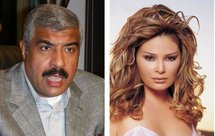Lebanese pop star Suzanne Tamim (right) during a photo shoot in Egypt, and Egyptian real estate mogul Hisham Talaat Mustafa (left)
