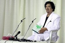 Libyan leader Moamer Kadhafi in April 2010