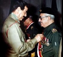Tareq Aziz with sadam Husain