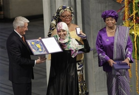 Catalysts for peace: three women receive Nobel Prize
