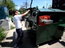 US artist turns dumpster into a home