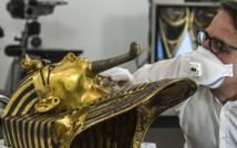 Tutankhamun's gold mask restored after botched repair