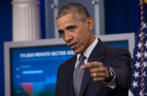 Obama vows to crush IS, concerned about Russia in Syria