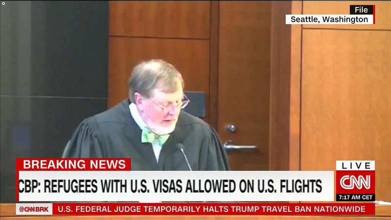 US appeals court ruling blocking Trump immigration ban