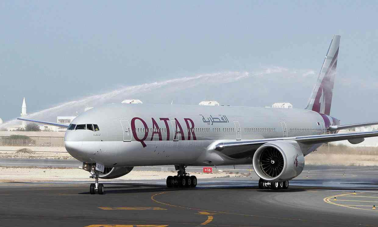 Qatar Airways flight from Doha to Auckland arrives after 14,535-kilometre trip which took 16 hours 23 minutes