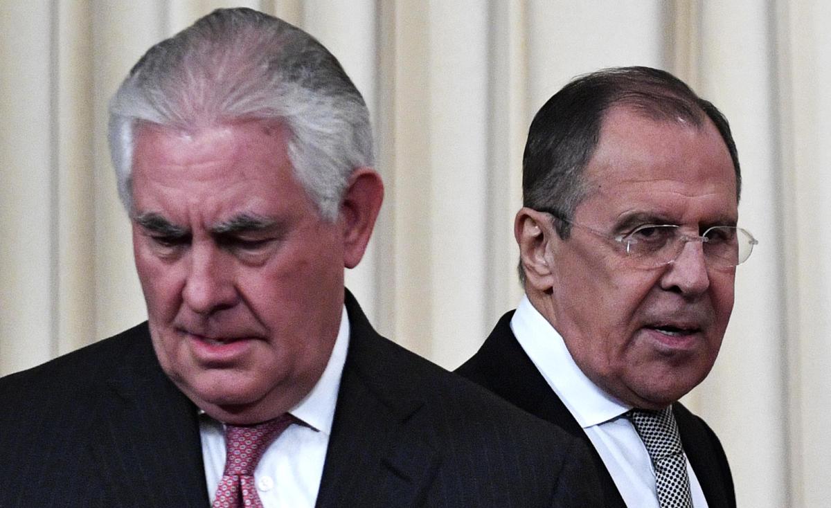 Russian FM presses US's Tillerson over Syria probe