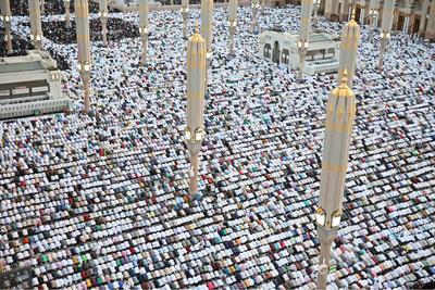 King Salman attends Eid al-Fitr prayers in Mecca