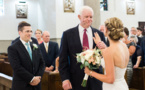Bride walked down aisle by father's heart recipient