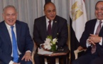 Netanyahu and al-Sissi hold first public meeting in New York