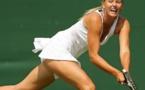 Sharapova slams Voegele to reach first semi-final since April