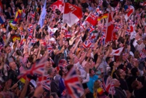 Brexit flag battle at Britain's Last Night of the Proms