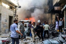 Raid kills 7 children in Syria rebel bastion