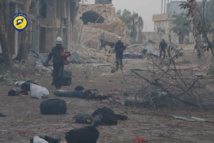 Army assault leaves bodies strewn in Aleppo streets