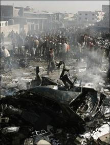 Massive Israeli air raids on Gaza killed at least 195