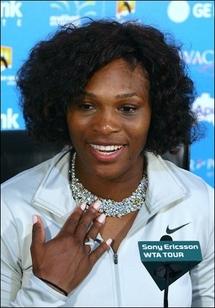 Serena dazzles with diamond serve