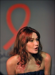 French first lady Carla Bruni on AIDS trip to West Africa