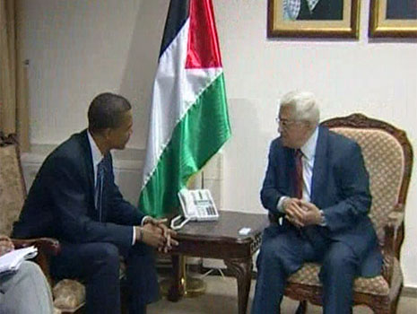 Obama meets Abbas, ups pressure on Israel