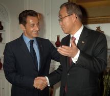Sarkozy, UN chief talk climate change in New York