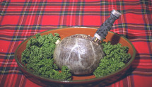 Haggis invented 'by the English' not the Scots