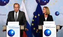 EU, Russia play up ties but trade barbs over Syria