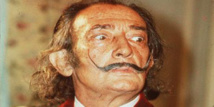 Dali's trademark moustache intact at '10 past 10' position