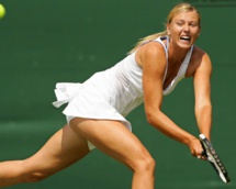 Sharapova slams Voegele to reach first semi-final since April