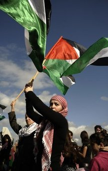 Foreign activists in Gaza protest Israeli closures
