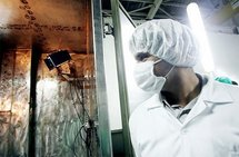A technician at the Isfahan Uranium Conversion Facilities