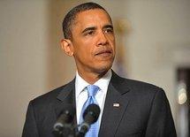 President Barack Obama after the meeting with senior intelligence officials (AFP/Mandel Ngan)