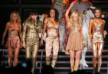 The Spice Girls on stage in London