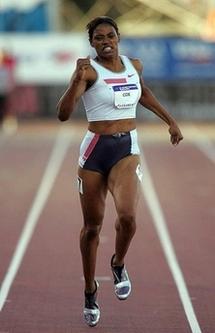 Crystal Cox running (Matthew Stockman/AFP)