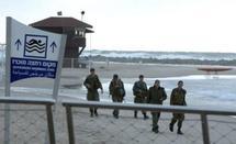 Israeli soldiers in Netanya