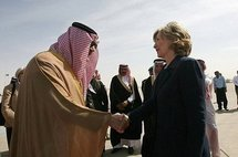 This Saudi Press Agency (SPA) handout shows US Secretary of State Hillary Clinton (right) with her Saudi counterpart Prince Saud al-Faisal (AFP/SPA)