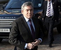 Gordon Brown arrives at the Chilcot Inquiry (AFP/Carl Court)