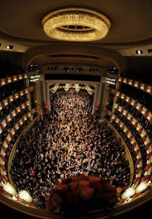 The opening ceremony of Vienna's 54th annual Opera Ball
