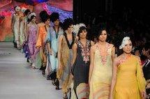 Models for Pakistani designer Rouge.