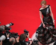 Cate Blanchett in her dress, designed by Alexander McQueen