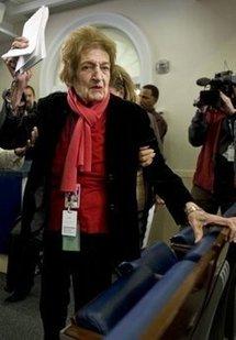 White House press legend Helen Thomas, in 2008
